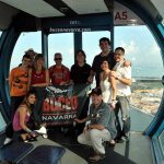 grupo de Buceo Navarra en la noria de Singapur