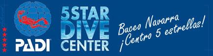 logo de centro de buceo PADI 5 estrellas