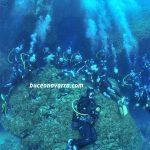 grupo-sub en la cueva del Delfin