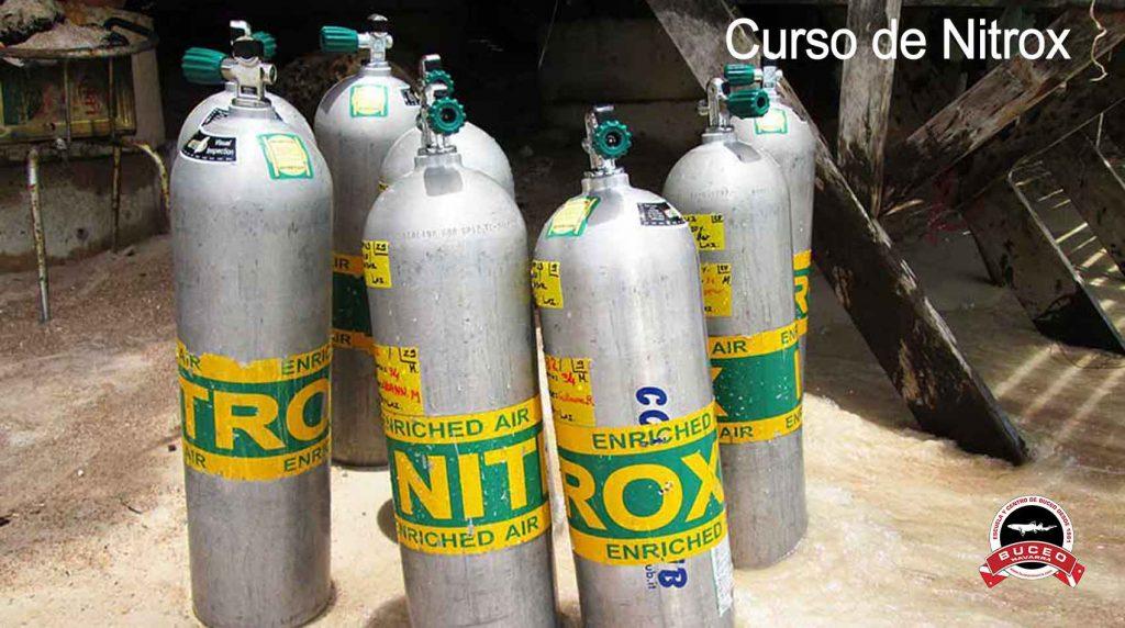 botellas con marca nitrox